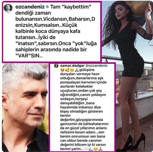 Özcan Deniz, kendisinden 23 yaş küçük sevgilisine sosyal medyadan aşkını ilan etti